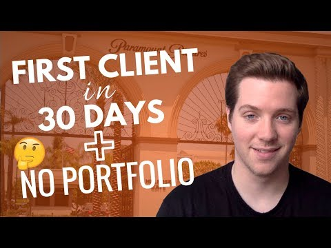 How We Got Our First Client in 30 Days With NO Portfolio