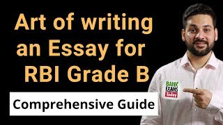 How to write an Essay for RBI Grade B Descriptive Paper