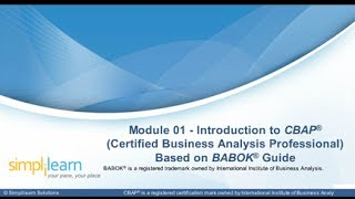 An Introduction to CBAP | CBAP Based on BABOK Guide | CBAP Training Online