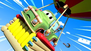 Monster Trucks for children - Balloon Fiesta  What goes up must come down Monster Town