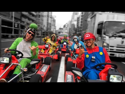 Driving Mario Karts in Japan