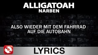 ALLIGATOAH - NARBEN - AGGROTV LYRICS KARAOKE (OFFICIAL VERSION)