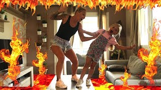 ♡•🔥THE FLOOR IS LAVA CHALLENGE | LE SOL C'EST DE LA LAVE 🔥♡