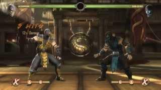 Mortal Kombat 9 - Scorpion обучение + комбо