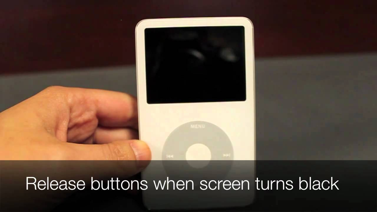 How To Restart An Ipod Classic Youtube