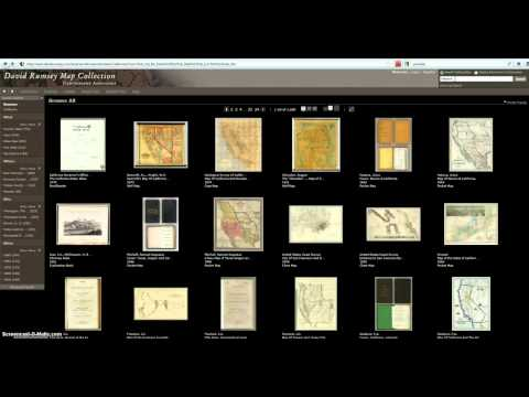 David Rumsey Map Collection Screencast