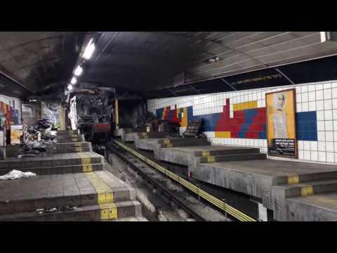 Metro In Haifa Israel After Burn carmelit הכרמלית בחיפה לאחר
