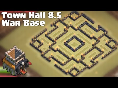 Clash of clans - Town hall 8.5 War Base [The trap] + Replay