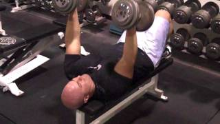 DeFrancosGym.com - Exercise Index: Rolling triceps extensions