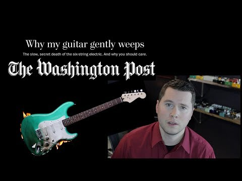 The Death of Guitar (Washington Post article reaction)