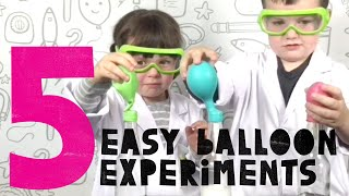 Five EASY Balloon Experiments for Kids by the Try Society