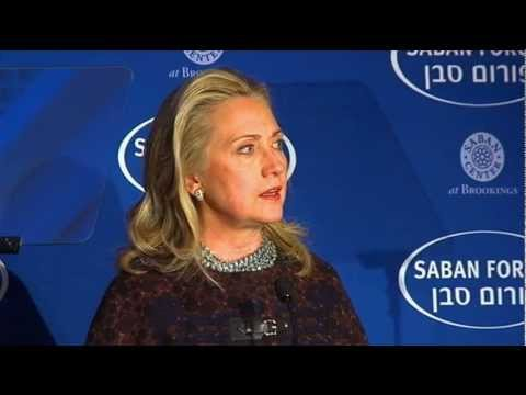 Secretary Clinton Delivers Remarks at the Saban Center for M