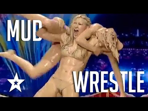 Mud Wrestling Women Battle It Out On Got Talent | Got Talent Global