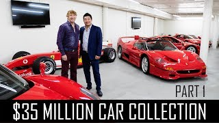 Ferrari Collector David Lee\'s $35million car collection! (Part 1)