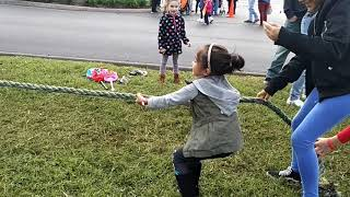 Tug a war with the kids fall festival 2018
