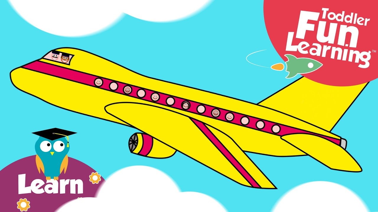 lets build a plane toddler fun learning plane video for toddlers youtube