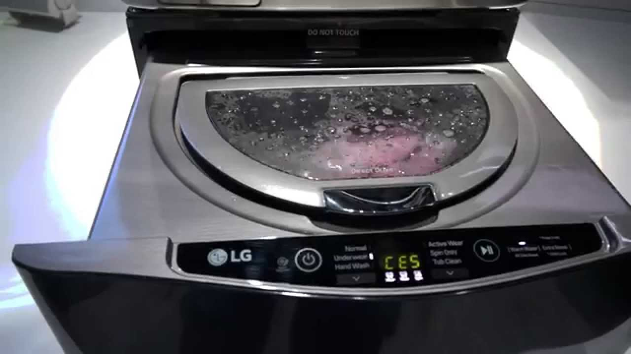 Ces 2015: lg waschmaschine twin wash system youtube