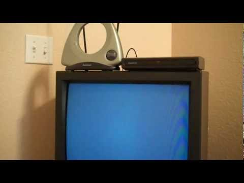 How to Connect an Over the Air TV Antenna to an old style Cathode Ray Tube TV