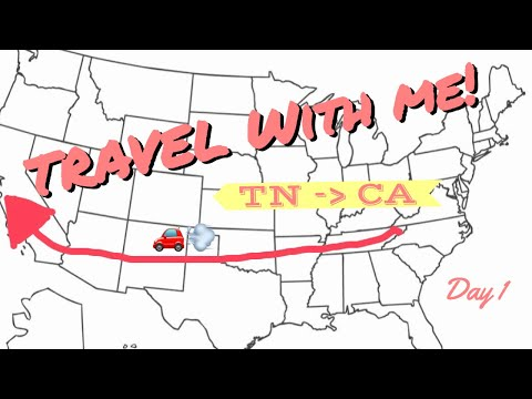 Travel Across the country with me! {Day 1} | VLOG |