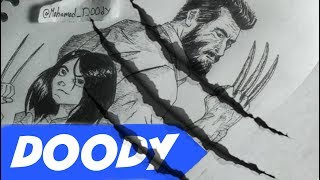 Logan and X-23 drawing by Mohamad Osama   @Mohamad_DOOdY