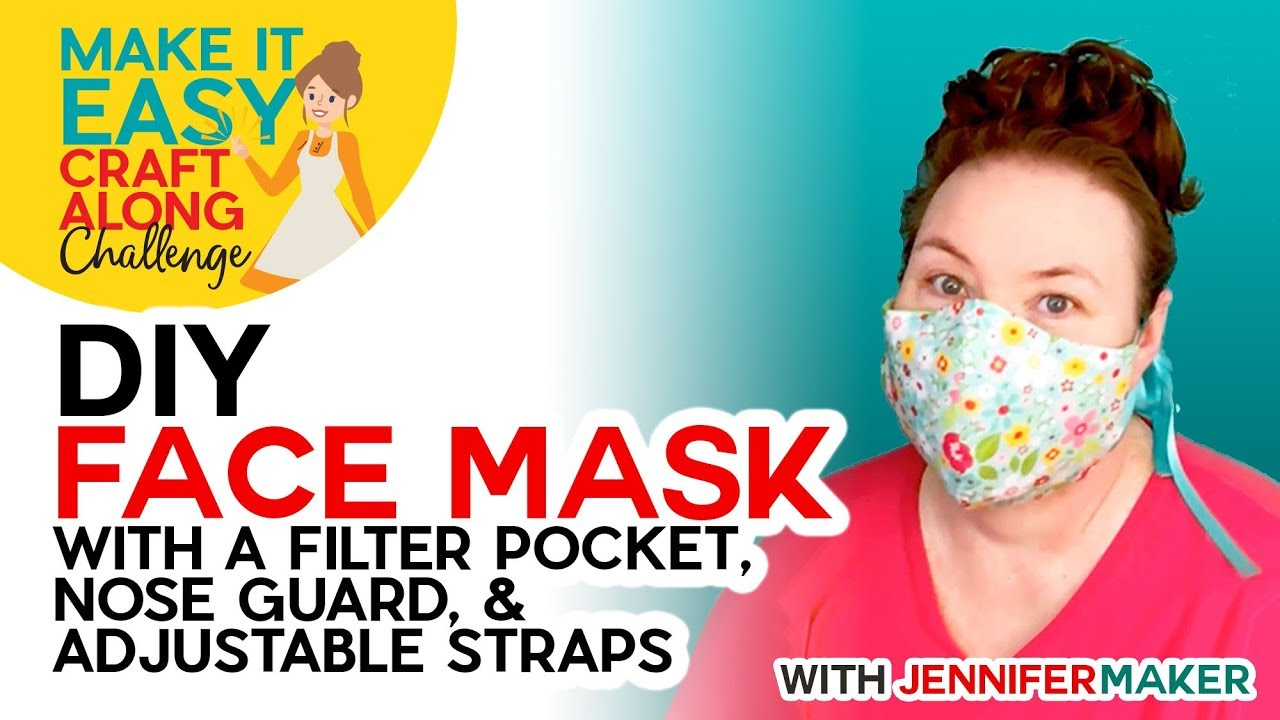 Diy Face Mask With Filter Pocket Make On A Cricut Or By Hand Youtube
