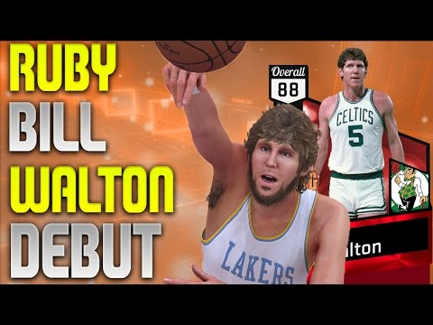 NBA 2K17 MyTeam - Ruby Bill Walton Debut - This Card is a Monster!