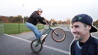 OLD FRIENDS RIDING A COLD SKATEPARK!