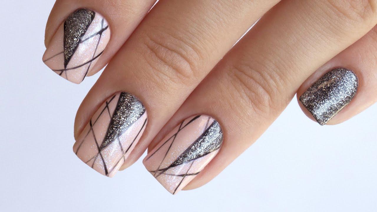 Дизайн ногтей гель-лаком геометрия