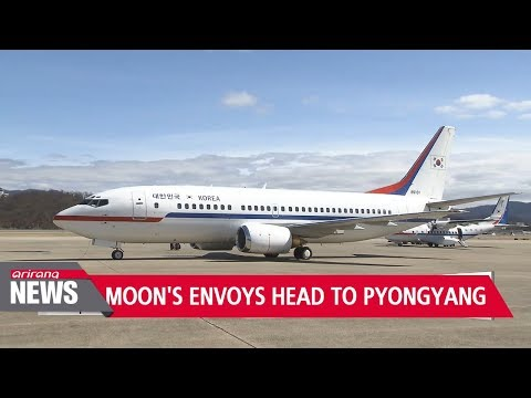 S. Korean president's special envoys fly to Pyongyang for two-day visit
