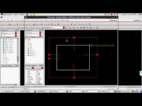 Cadence tutorial -CMOS NAND gate schematic, layout design and Physical Verification(Assura tutorial)