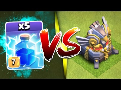Thumbnail: IMPOSSIBLE? OR NOT!? - Clash Of Clans - EAGLE ARTILLERY vs ALL MAX LIGHTNING SPELLS!!