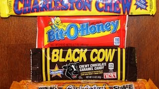 Charleston Chew, Bit-o-honey, Black Cow & Chick-o-stick Review