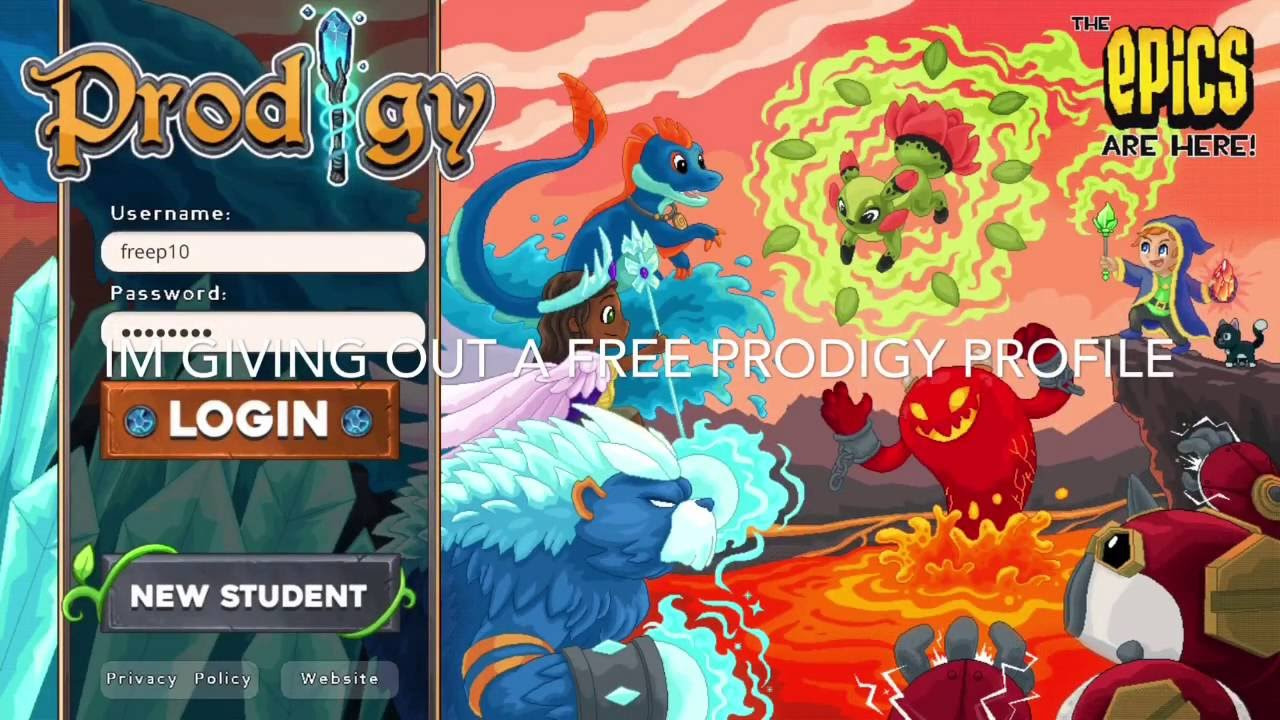 Prodigy Account giveaway