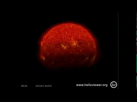 NIBIRU   SOMETHING VERY BIG WENT THROUGH THE SDO SOLAR ORBITING TELESCOPE CAMERA FIELD  2012 09 11