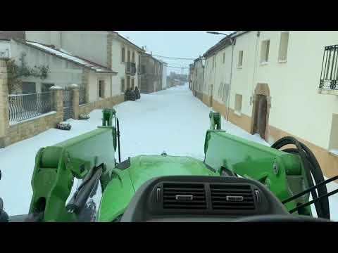Solidaridad en la nevada en los pueblos de Soria