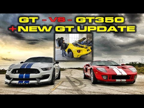 2018 Ford GT Update and 2005 Ford GT has problem while racing a Shelby Mustang GT350