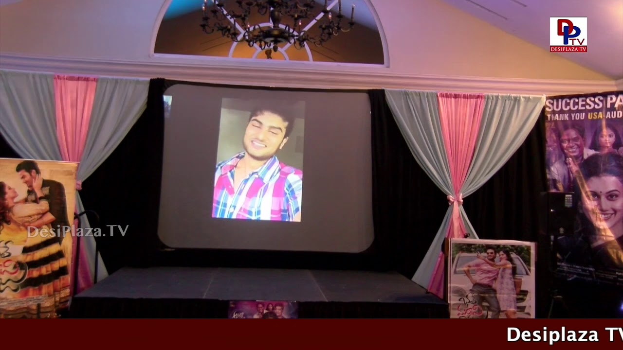 Sudheer Babu speaking at 50th Day Celebrations of  - Anando Brahma, Dallas Texas, USA