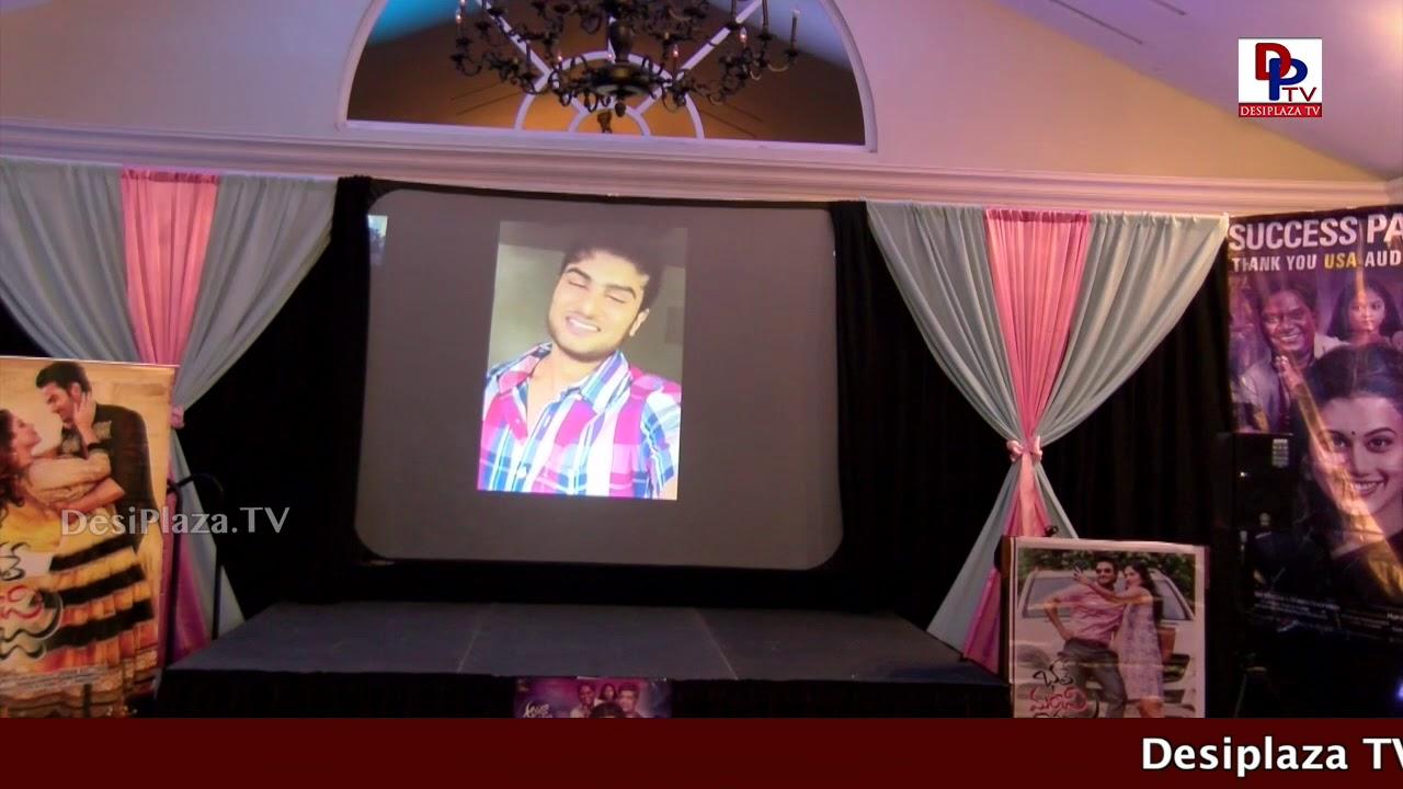 Sudheer Babu speaking at 50th Day Celebrations of  - Anando Brahma, Dallas Texas, USA