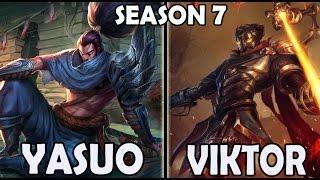 SKT T1 Faker YASUO vs VIKTOR MID Ranked Korea Pre Season 7