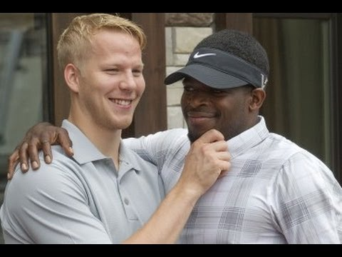 P.K. Subban and Lars Eller at charity golf event