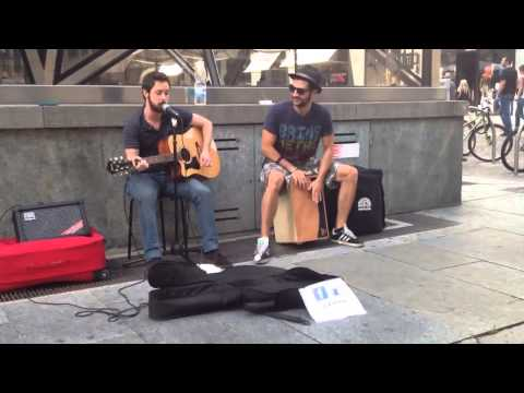 The Black Keys-Lonely Boy (acoustic busking cover) by L.A. Woods