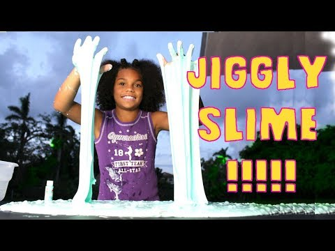 1 GALLON OF JIGGLY SLIME!!!! (DIY)
