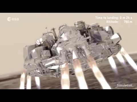 Simulated Mars landing