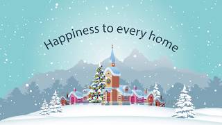 скачать футаж обновлен на 2019 MERRY CHRISTMAS NEW YEAR Happiness to every home Full HD download