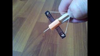 Крутой мини Арбалет для Мышей. Как сделать арбалет своими руками. самодельный арбалет