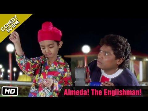 Almeda! The Englishman! - Comedy Scene - Kuch Kuch Hota Hai - Johnny Lever, Farida Jalal,