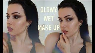 СИЯЮЩИЙ МАКИЯЖ// ЭФФЕКТ МОКРЫХ ВОЛОС   Glowy Wet Make-Up