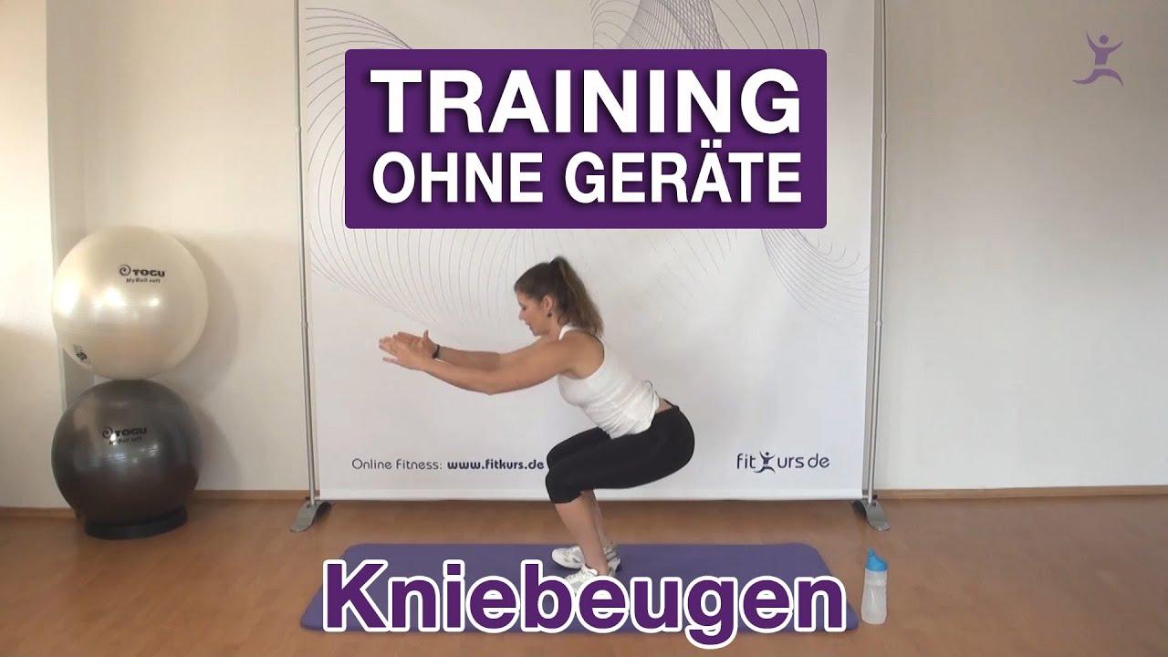 Kniebeugenübungen zum Abnehmen