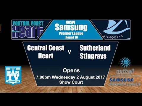 2017 Samsung Premier League Round 10 Opens - Central Coast Heart v Sutherland Stingrays (Show Court)