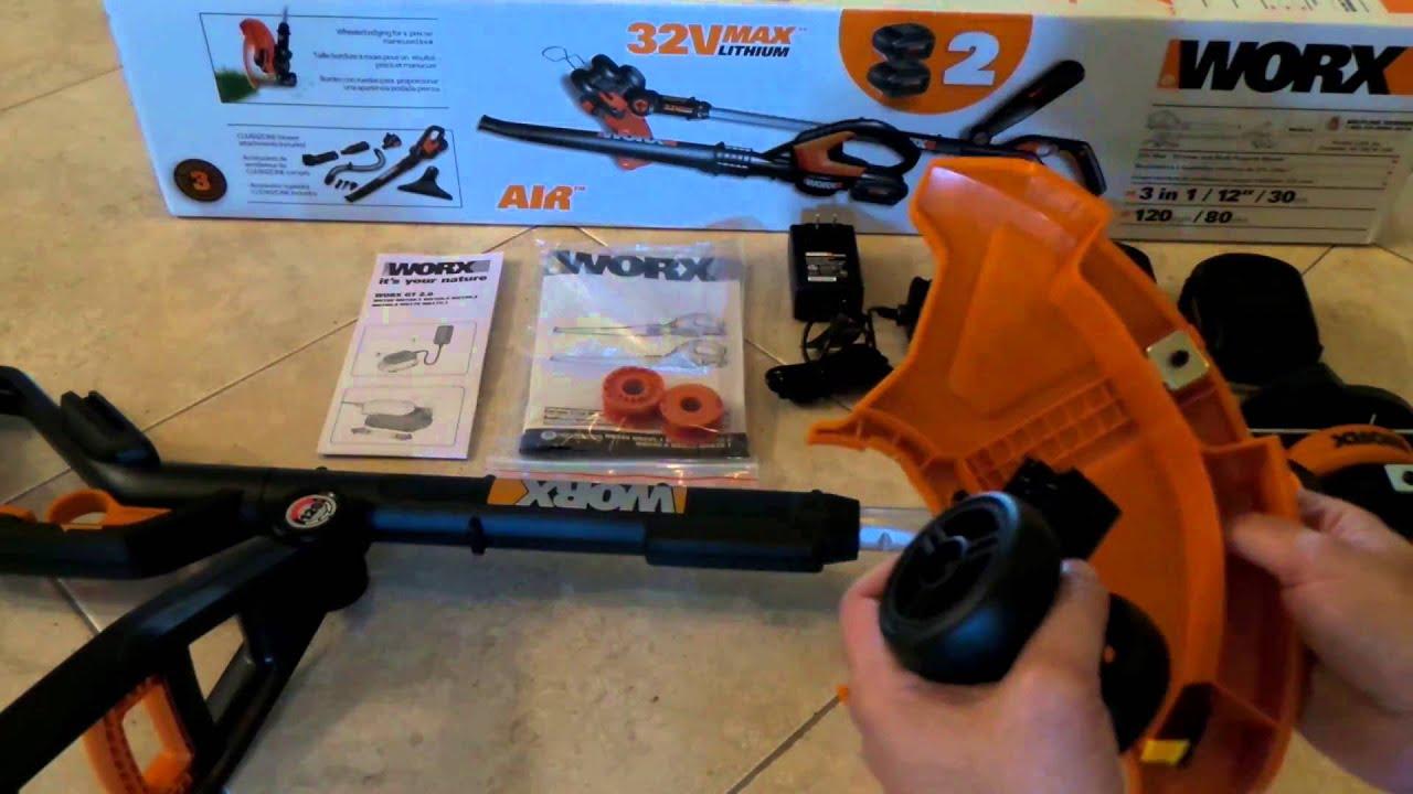 32v Maxlithium Worx Gt 2 0 Grass Trimmer Edger Mini Mower Part 4